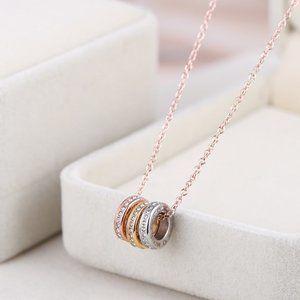 Michael Kors Colorblock Ring Short Necklace